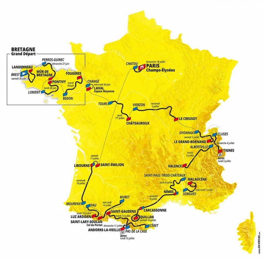 tour percorso 2021