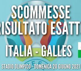 italia galles quote risultato esatto